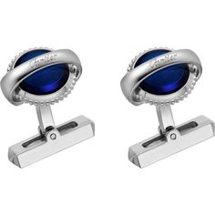CARTIER Ballon Bleu de Cartier sterling silver cufflinks (93310 ALL) ❤ liked on Polyvore featuring jewelry, artificial jewellery, sterling silver engravable jewelry, sterling silver jewelry, imitation jewelry and fake jewelry