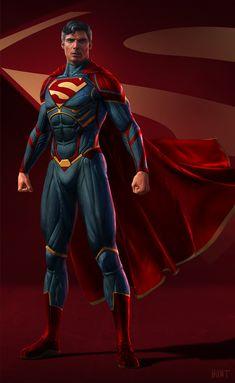 Arte Do Superman, Superman Suit, Superman Artwork, Superman Family, Superman Man Of Steel, Superman Logo, Superhero Poster, Superhero Design, Dc Comics Heroes