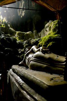 Tranquil Reclining Cave Buddha - Vang Vieng, Laos. Buy this print: http://bencrosbiephotography.pixieset.com/photography/