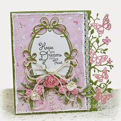 In My Little Korner: LOTV - Hope Your Dreams Come True...featuring LOTV Butterfly Kisses papers, and new Little Fairies Clear Sentiment stamp sheet