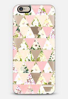 Pastel geo flowers - semi transparent phone case