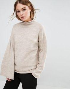 Fashion Union – Hochgeschlossener Pullover mit weiten Ärmeln