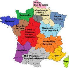 Hollande dévoile la nouvelle carte des régions de France