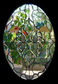Custom oval glass by Art Windows