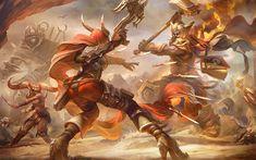 Scarica sfondi Heroes Of The Storm, 4k, battaglia, 2018 giochi, guerrieri