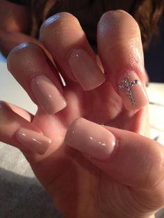 nude Cross nail art - cuteee