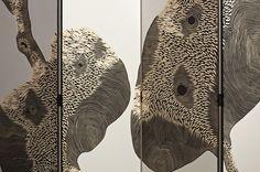 Zoe-Ouvrier-|-Loula-(back)-|-2012 Plywood, acrylic paint | unique | France detail