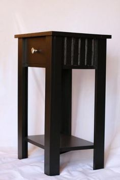 Simple nightstands that can be made from scraps. Uses a simple wood drawer with esy false legs. step by step with supply list.