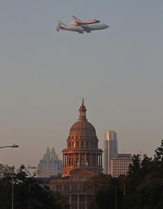 Space shuttle over the Capital, Austin, Tx.