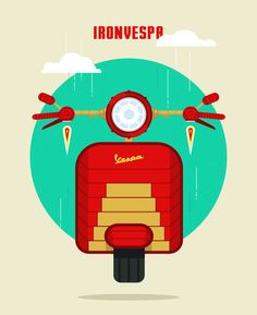 Vespa Superhero Edition ( and minions:) on Adweek Talent Gallery
