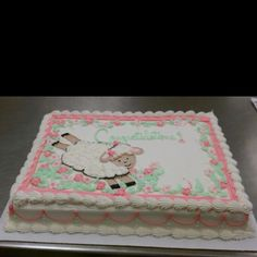 Baby Shower Cake, Brought To You By Costco!