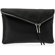 Henri Bendel Debutante Convertible Embossed Clutch ($298) ❤ liked on Polyvore featuring bags, handbags, clutches, black, leather purse, cross body purse, black leather purse, accessories handbags and genuine leather handbags