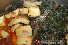 Σουπιές με σπανάκι - Cuttlefish with spinach