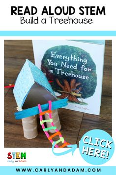 Can your students design and build their very own treehouse? This STEM challenge is the perfect companion activity to Everything You Need for a Treehouse by Carter Higgins. The book explores all the elements needed for an amazing treehouse! #STEM #STEMchallenge Easel Activities, Writing Activities, Activities For Kids, Stem Teacher, Elementary Teacher, Building A Treehouse, Coding For Kids, Stem Learning, Stem Challenges
