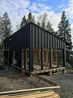 Scandinavian summer house under construction. Kungsdalen, Södertälje Architect: Andreas Martin-Löf