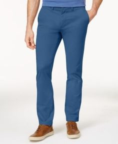 Tommy Hilfiger Men's Slim-Fit Stretch Chino Pants - Blue 38x30