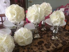 Christening Centerpieces.