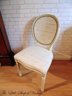 French Louis Style Bedroom Hall Chair Shabby Chic Annie Sloan Script Italian