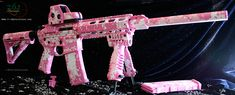 custom painted ar15 | Pink Digital on DPMS AR-15 and EOTech with Magpul furniture and Mako T ...
