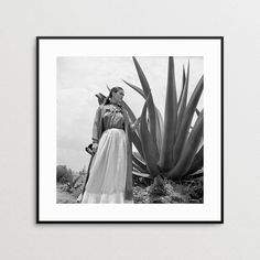 Frida Kahlo Photo Reproduction - Agave Plant - Print - Vogue Magazine - Toni…