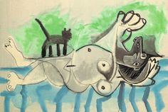 Nude Lady with Cat, Picasso