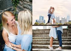 A beautiful skyline and details. Such a beautiful lesbian engagement photo session in Atlanta.  #atlanta #equality