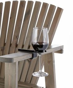 Wine glass cup holder for an outdoor folding camp bag chair. The Wine Hook. Wine Gadgets, Wine Lovers, Wine Glass Holder, Towel Holder, Wine Drinks, Beverages, Wine Gifts, Outdoor Chairs, Patio Chairs
