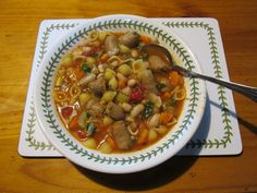 Steve's Pasta E Fagioli: A really delicious bean soup. Do try it.