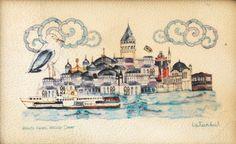 Galata Kulesi- İstanbul Çizimi