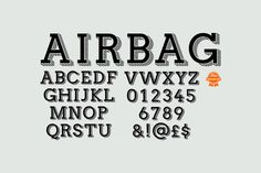 Check out Airbag typeface by It's me simon on Creative Market