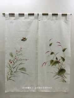 Hand Embroidery Patterns Flowers, Embroidery Stitches, Noren Curtains, Paint Shirts, Fabric Painting, Mobiles, Table Runners, Fiber Art, Interior Decorating