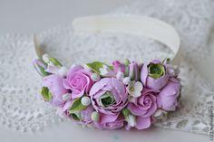 """Ободок """"Нежнее нежного"""" - бледно-розовый,украшения ручной работы,украшение для волос"""