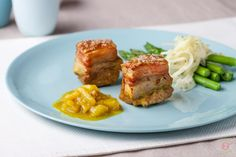Braised Pork Belly, Fragrant Pear and Ginger Chutney: Easy and effective, this dish will leave them wanting Ginger Chutney, Braised Pork Belly, Valentines Day Dinner, Meatloaf, Salmon Burgers, Pear, Meal Planning, Veggies, Tasty