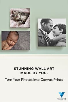 Transform your most treasured moments into totally unique wall art with customizable canvas prints from Vistaprint. Available in five different sizes, these premium-quality prints allow you to free your favorite photos from your computer and turn them into eye-catching art that your whole family will fall in love with. Visit Vistaprint.com and create your own canvas prints for 25% off today.