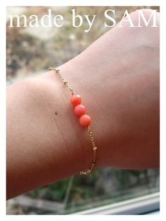 SET OF 7coral bracelets pearl  pink coral jewelry by madebysam3,
