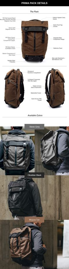 The Ultimate Modular Backpack keeps you organized for daily carry and  weekend travels. Backpack Bags 2a31fef6fbf1f