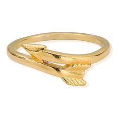 ChloBo Sun Dance Gold Arrow Ring ($26) ❤ liked on Polyvore featuring jewelry, rings, gold rings, gold jewellery, gold mid finger rings, midi rings and chlobo