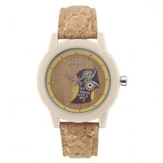 BagInspiration - Sprout Owl Inspired Watch, $47.00  Adorable own on a bamboo face with cork band surrounded by corn resin. He feels right at home. #uniquewatches