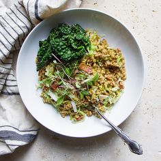 Warm Farro Salad with Roasted Veggies A fast and effortless meal ...