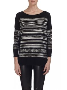The Bailey44 Nordic Ski Sweater is a long sleeve crew neck intarsia knit fully fashion sweater. A sweater with a pretty knit motif is a must-have for cooler weather!