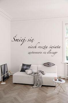 Naklejka na ścianę z cytatem