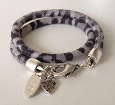 Armband Dubbel Suède Leopard