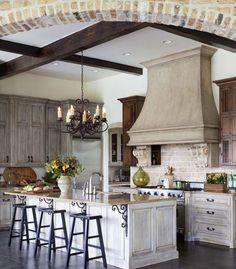 Chandelier in French Kitchen | Indeed Decor