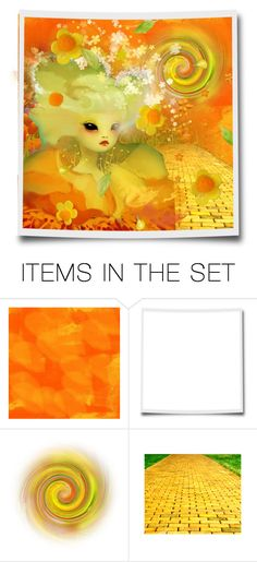 """""""Follow the yellow brick road"""" by riri-thatsme ❤ liked on Polyvore featuring art"""