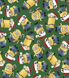 Holiday Inspirations Christmas Fabric-Despicable Me Santa Minions