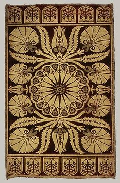 Ottoman Turkey Silk and metal thread cov. Ottoman Turkey Silk and metal thread cover Cushion Cover (Y - Motifs Textiles, Textile Patterns, Textile Design, Textile Art, Pattern Texture, Art Chinois, Stoff Design, Art Nouveau, Art Japonais