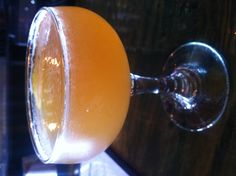 Virginia Sling: Bourbon, apricot liqueur, fresh lemon, ginger syrup, cardamom bitters. At Rye Craft Cocktails in Baltimore. Great place!