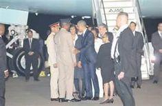 President Obama arrives in Jamaica - April 9, 2015.