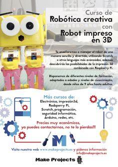¡Aprende con nosotros! Nuevos cursos de #robótica, #Arduino, #RaspberryPi, #Impresión3D y mucho más! https://www.makeprojects.es/blog/curso-robotica-muchos-mas/  ¡Apuntate! Solicita información en https://www.makeprojects.es/formulario-cursos/