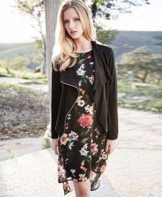 Karen Kane High-Low Shift Dress - Black XL